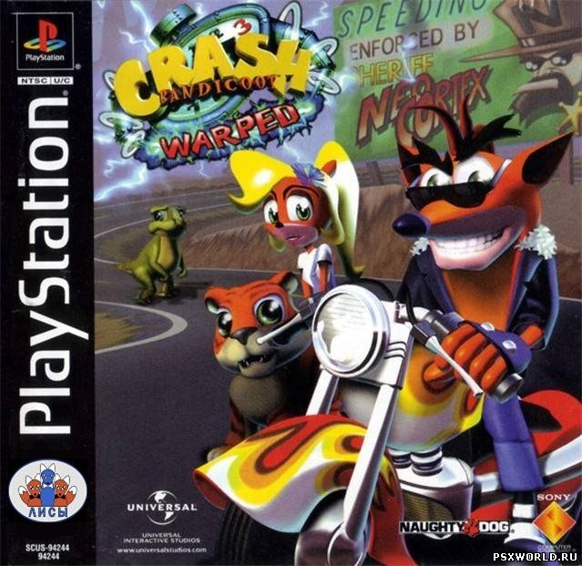 (PS) Crash Bandicoot Warped (RUS-Лисы/NTSC)